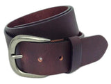 "Elite Full Grain Leather Brown 1.5"" Wide Belt"