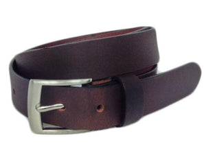 "Elite Full Grain Leather Brown 1"" Wide Belt"