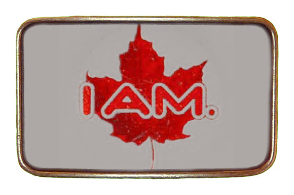 I Am Canadian Buckle