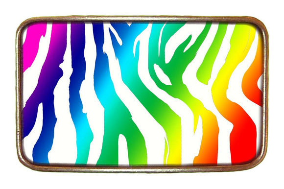 Rainbow Zebra Buckle