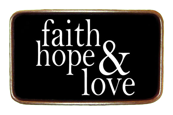 Faith Hope & Love Buckle