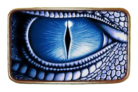 Blue Lizard Eye Buckle
