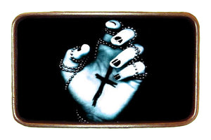 Goth Hand with Cross Buckle
