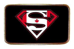 Canada Superman Flag Buckle