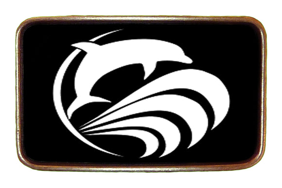 Surfing Dolphin Buckle