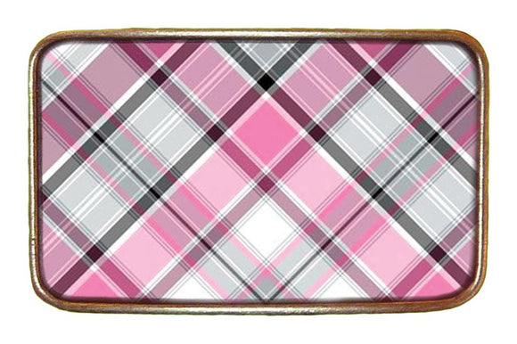 Pink Plaid Buckle