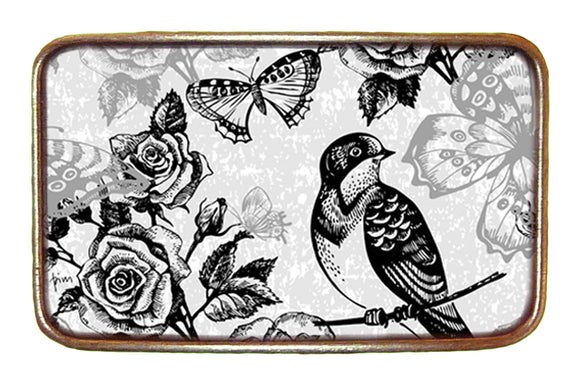 Bird, Rose, & Butterfly Buckle