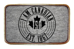 I Am Canadian Est 1867 Buckle