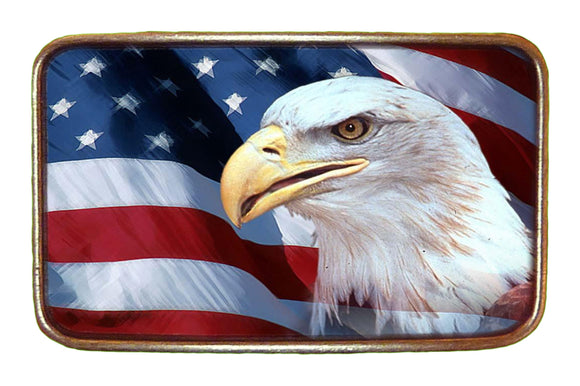 USA Eagle Flag Buckle