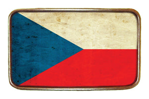 Czech Republic Flag Buckle