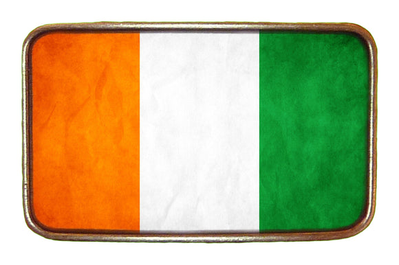 Ivory Coast Flag Buckle