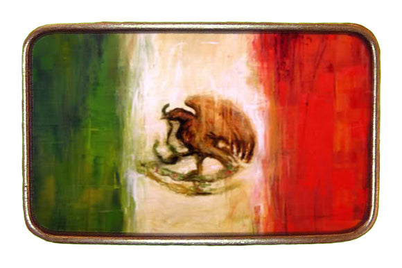Mexico Distressed Flag Buckle