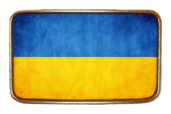 Ukraine Distressed Flag Buckle
