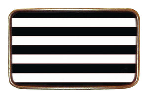B/W Stripes Buckle