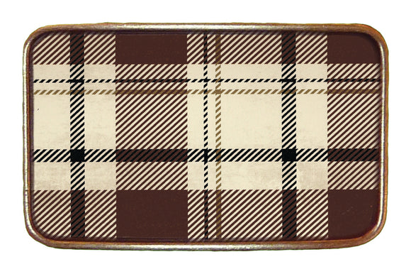 Brown Tartan Buckle