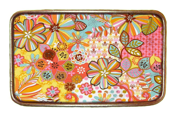 Coral Floral Buckle