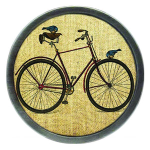 Vintage Bike with Birds Clik