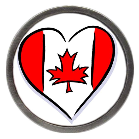 Canadian Flag Love Heart Clik