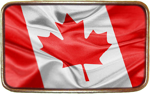 Canadian Flag NEW Wavy Buckle