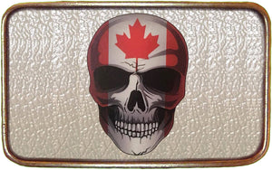 Canadian Flag NEW Skull Buckle