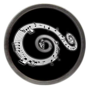 Music Notes Swirl Clik