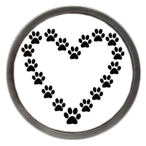 NEW Paw Print Heart Clik