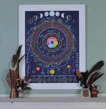 "Load image into Gallery viewer, 2021 Cosmic Calendar - 18"" x 24"" Poster"