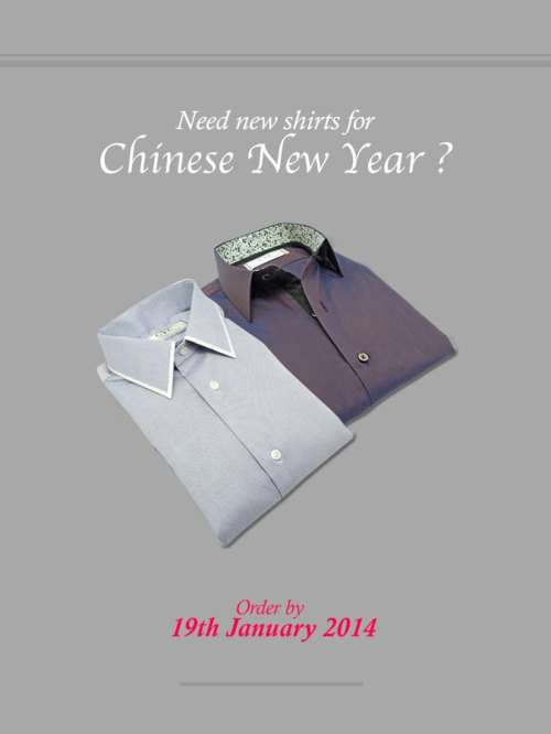 New shirts for Chinese New Year 2014