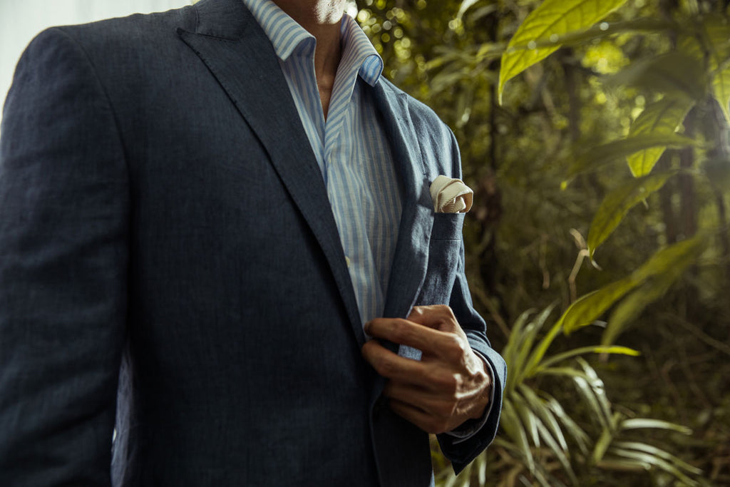 CYC Blue Linen Suit