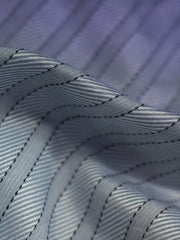 Blue stripe fabric for tailored shirt