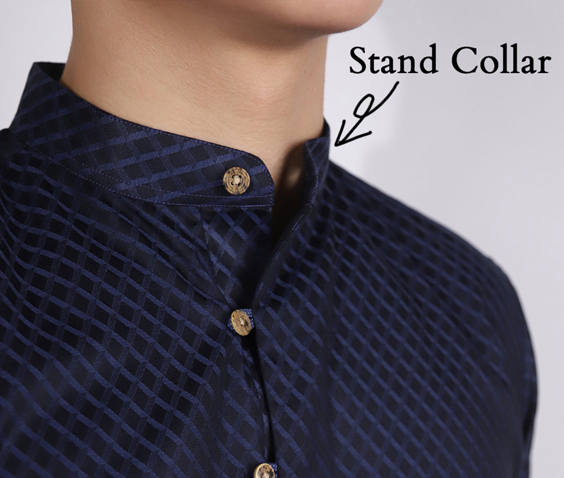 Stand collar detail