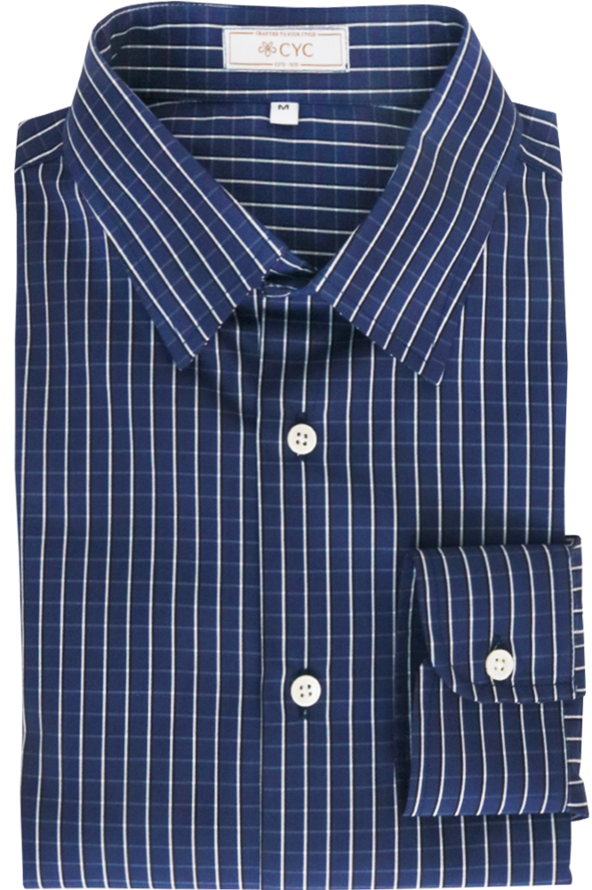 Getzner Navy & White Checked Shirt
