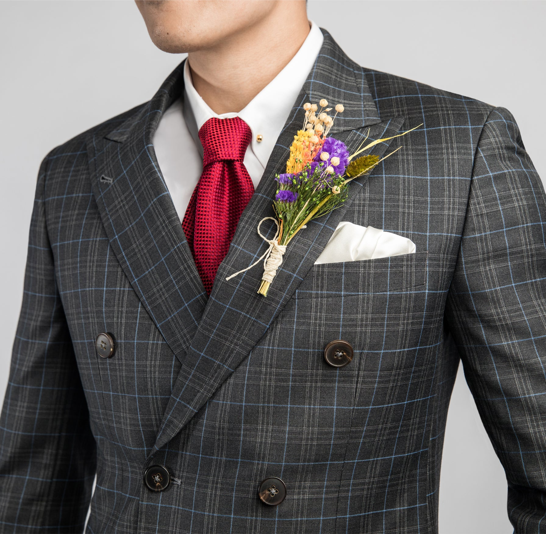 Charcoal Check Double Breasted Suit by CYC Made to Measure Tailor