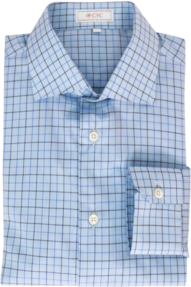 Thomas Mason Sky Blue Tattersall Shirt