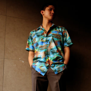 Singapore Stories Multi Concrete Jungle Printed Short Sleeve Shirt