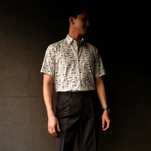 Singapore Stories Mono Mangrove Forest Printed Short Sleeve Shirt
