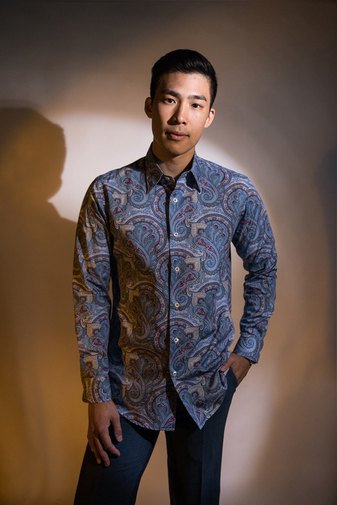 Paisley Majorelle Long Sleeve Shirt