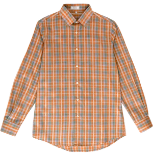 Getzner Orange Plaid Shirt