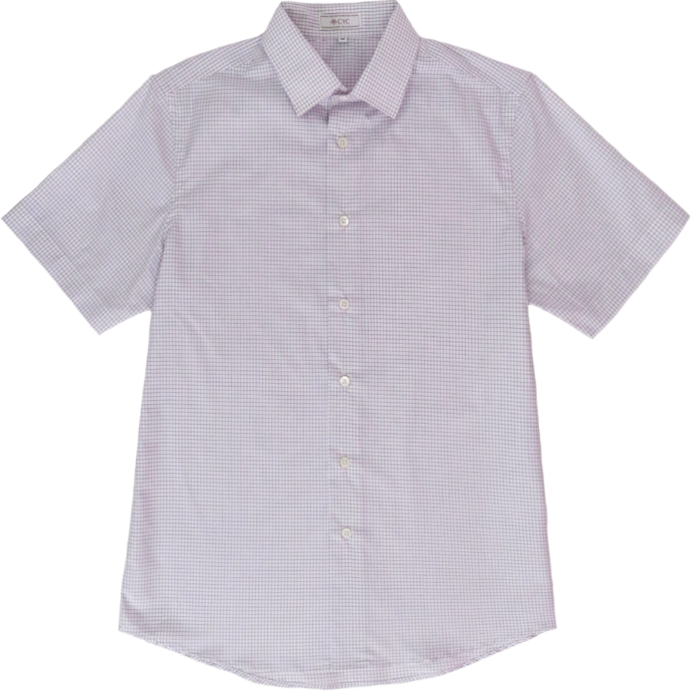 Albini Lilac Graphpaper Checked Shirt