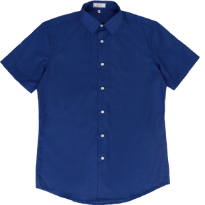 Getzner Blue Graphpaper Check Shirt