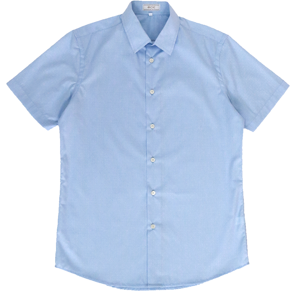 Getzner Sky Blue Graphpaper Checked Shirt