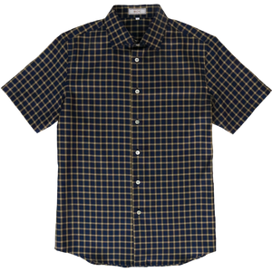 Getzner Navy Checked Shirt