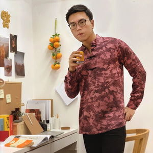 Bonsai Ink Viscose Changshan Long Sleeve Shirt