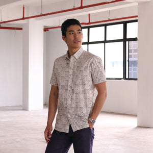 Singapore Stories HDB Printed Short Sleeve Shirt