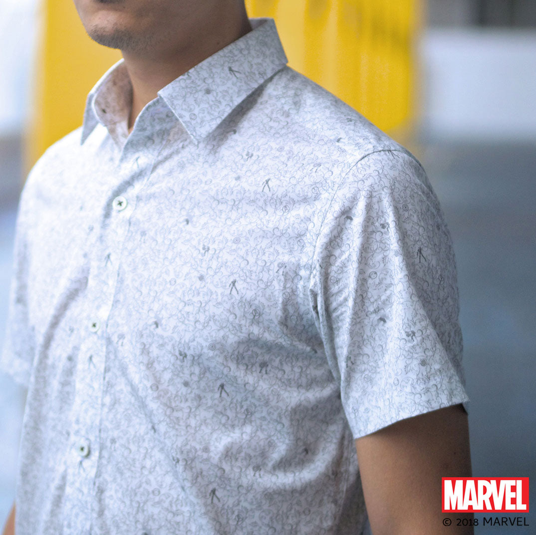 Marvel/CYC The Avengers Floral Print Short Sleeve Shirt