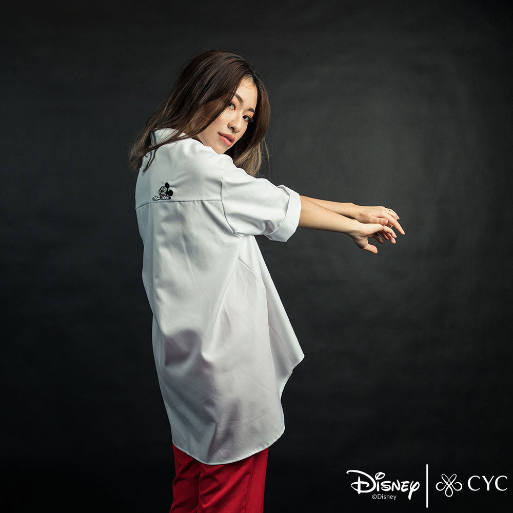 Disney/CYC Ladies Mickey Got Your Back Three Quarter Sleeved Blouse Main Image