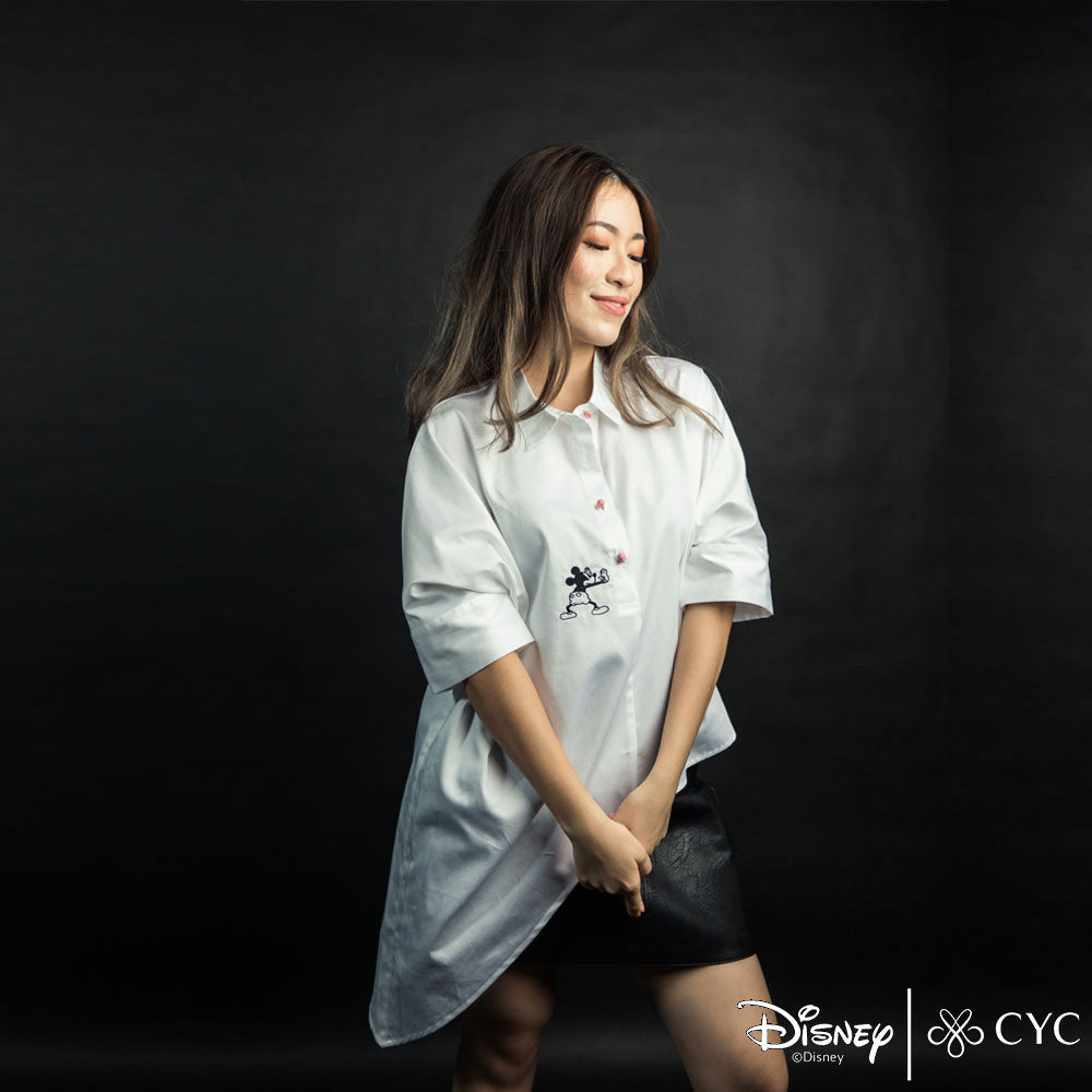 Disney/CYC Ladies Pushin' Mickey Asymmetrical Blouse Main Image