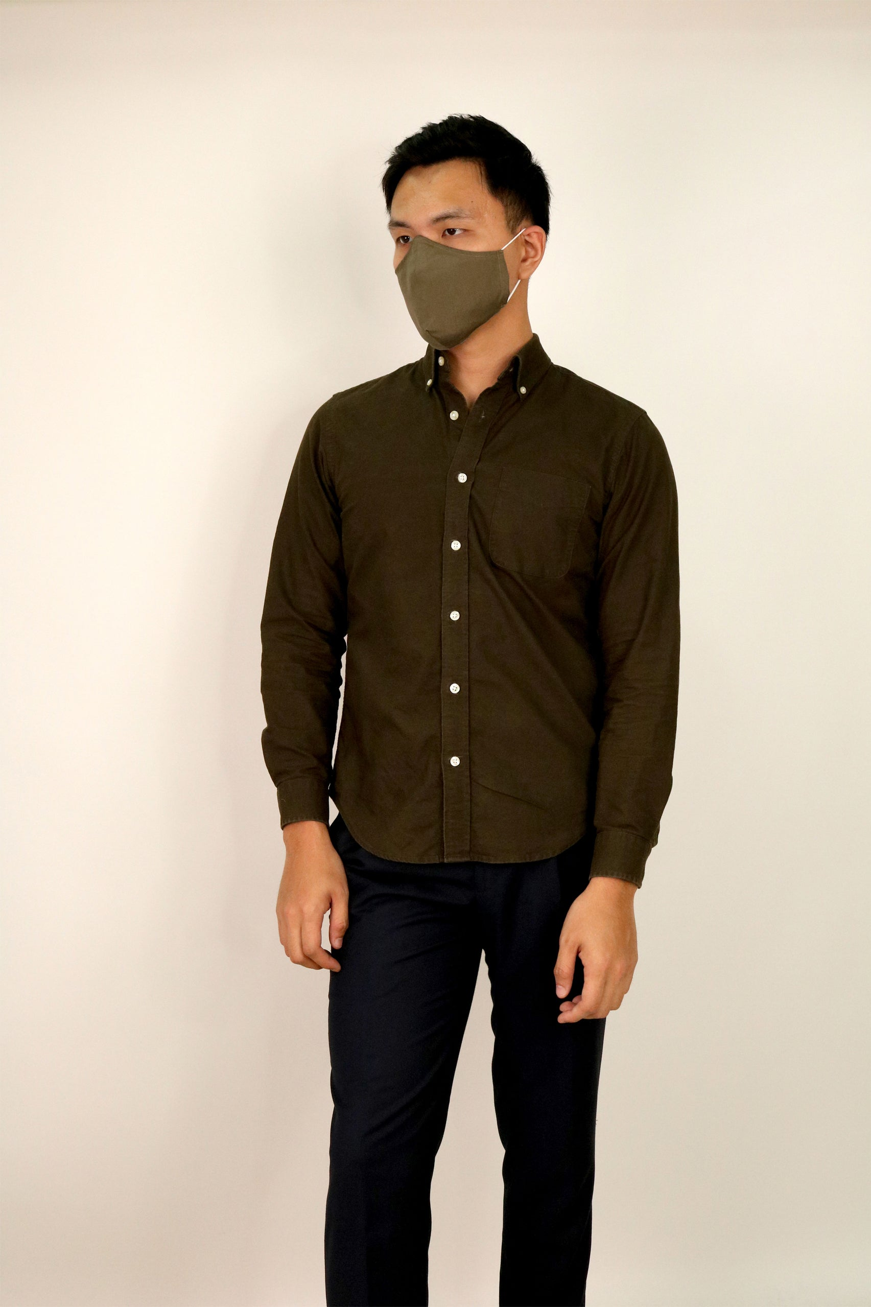 Olive Green Face Mask (Corporate Series)