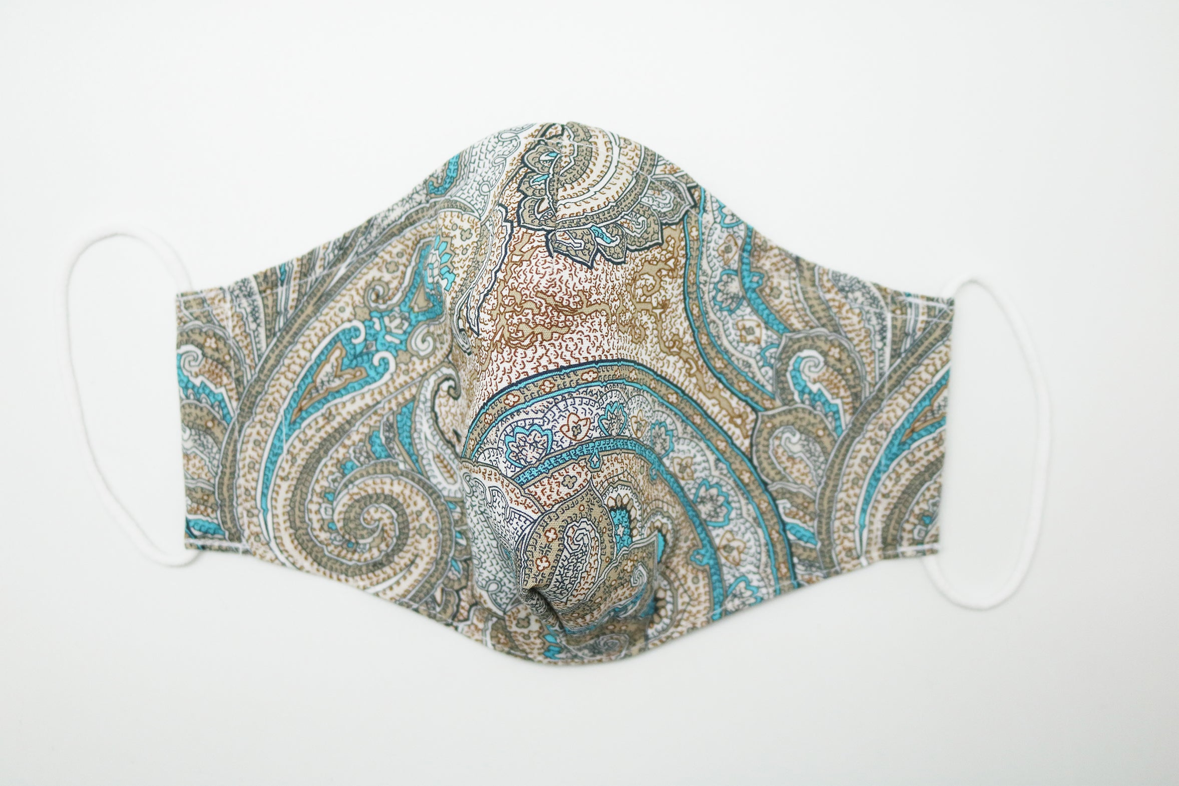 Liberty Gold Paisley Face Mask (Technicolour Series)