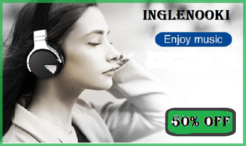 I Need This..!  Inglenooki Luxe E-7 High Quality Wireless Headphones Bluetooth Headset with Microphone/NFC Wireless Earphones for Phone 30 hours playtime